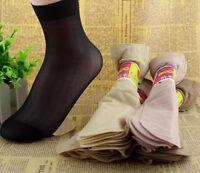 Women's Crystal Short Socks Summer Elastic Nylon Casual Thin Spandex Solid Sock