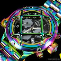 Invicta Russian Diver Nautilus Caged Iridescent Steel Chronograph 52mm Watch New