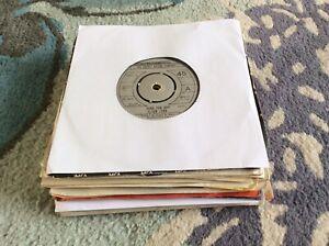 7 Inch vinyl records job lot 70s x 20