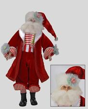 """Katherine's collection Cuckoo Santa Claus doll red white Christmas 20"""" 28-30159"""