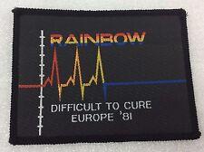 original vintage - Rainbow - difficult to cure tour jacket patch  1981 - rock
