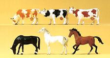 Preiser 75019 TT 1:120 - Horses, Cows - New Original Packaging