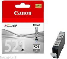 1 x Canon CLI-521GY, CLI521 Grey Original OEM Inkjet Cartridge For MP980, MP990