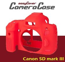 easyCover Protective Red Silicone Armor Case for Canon 5D Mark 3 / 5DS R / 5DS