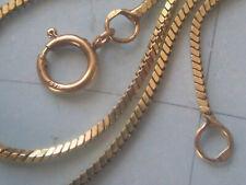 Schlangenkette 4-Kant Gold 750 Länge 47,5 cm x 1mm, Goldkette 750 Collier 47 cm