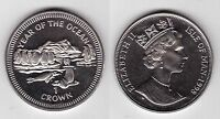 ISLE OF MAN – 1 CROWN UNC COIN 1998 YEAR KM#898 YEAR OF OCEAN PENGUINS