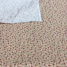 Pinwale Corduroy Cotton Sewing Fabric Small Floral Salmon Red Blue Craft 1 Metre