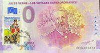 BILLET 0 EURO J. VERNE LE TOUR DU MONDE EN 80 JOURS TIMBRE 2021 N° DIVERS