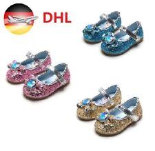Kleinkinder Mädchen Prinzessin Elsa Hochzeitsfeier Pailletten Glitter Schuhe DE