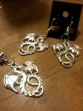 925 sterling silver chain tibetan silver dragon pendant/ earring