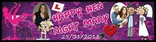 Personalized Hen Night Party Banner Poster with your photo & text