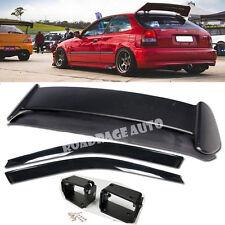 96-00 Civic EK4 EK9 Type R Style Rear Trunk Spoiler Wing Kit + Window Rain Visor