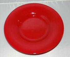 "POTTERY BARN Red SAUSALITO 10 1/4"" Salad Bowl Plate Stoneware China"