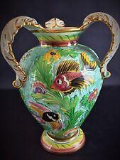 Important vase ceramique à 3 anses (rare) par MONACO CERDAZUR numéroté ht 35 cm