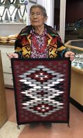Native American Navajo  Handmade Rug Crystal Design * Elouise Shorty *