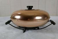 Vintage Silex Mid Century Electric Bun Warmer Copper Atomic MCM