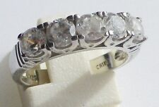 bague bijou argent 925 poinçon avec solitaire zircon diamant 1 carat taille 51