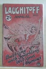 Laughitoff Annual 1945, post war British humour mag with stories and cartoons