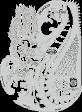 Artool Freehand Kanji Master Dragon Airbrush Paint Stencil by Dennis Mathewson