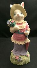 Windsor Collection Bunny Lady Victorian Dress Spring Easter Figurine Nib