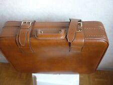 - 2 marron Jeu de valises en cuir vintage pour voyage Marron