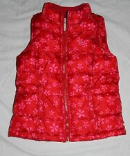 Old Navy Red Puffer Kids Girl Size Small Warm Winter Insulated Vest Ski Poly