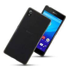 Hybrid TPU Gel Skin Case Cover for Sony Xperia Z3+ Z4 - Smoke Black