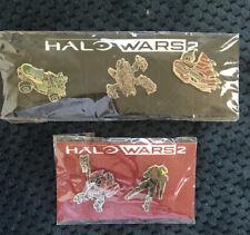 Xbox Halo Wars 2 Promo Pin Sets 2-Pin & 3-Pin Lot New Sealed