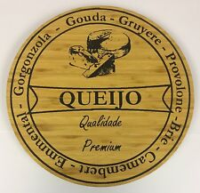Large Premium Classic Wooden Rotating Cheese Board Cheese ServingTurntable Plate