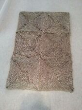 SISAL NATURAL SEA GRASS RUG MAT approx 60 x 90 cm  (2 x 3')