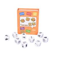 9pcs Story Dice Puzzle Brettspiel Geschichtenerzählen Kinder Funny English Ga C4