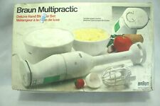 BRAUN MULTIPRACTIC HAND DELUXE HAND BLENDER SET WITH BOX VGC!