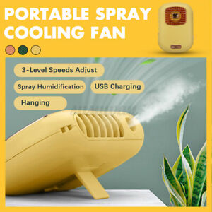 Mini Fan with Water Spray Hand Operated Fashion Mini Fan Cool Air Blower Spray