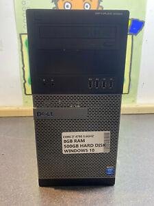 Dell Optiplex 9020 MT i7 4790 3.6Ghz 8GB 500GB WINDOWS 10 PC TOWER READY TO GO U