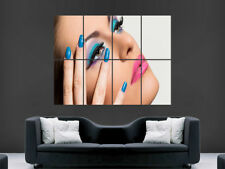 FEMALE WOMEN MAKEUP POSTER LIPSTICK ART MAILS BEAUTY PICTURE PRINT LARGE HUGE