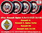 4 Roues Alliage Renault R4 R5 Turbo Alpine 5.5x13 Wheels Jantes Llantas Felgen