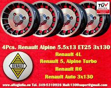 4 Cerchi Lega Renault R4 R5 Turbo Alpine 5.5x13 Wheels Felgen Llantas Jantes TUV