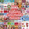 """100-er Postkarten-Set """"LIEBE"""" für Hochzeit, Valentinstag, Postcrossing etc."""