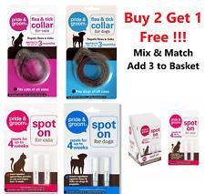 Dog Cat Puppy Kitten Flea And Tick Collar & Spot On Flea Treatment Repellent