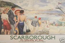 Vintage Railway Advert Jumbo Fridge Magnet Scarborough