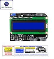 DISPLAY LCD 16x2 1602 BLU HD44780 E CON TASTIERA KEYPAD MODULO PER ARDUINO UNO