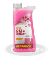 Mannol Antifreeze Coolant AF12+ Red Ready To Use Mixed -40°C Longlife 1L