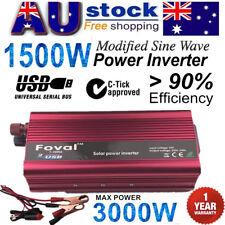 1500W-3000W DC 12V to AC 240V Portable Car Power Inverter Charger Converter USB