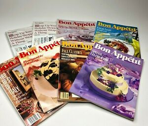 Lot of 8 Bon Appetit Magazines 1989/1990 Issues Food Lover Foodie Cooking Recipe