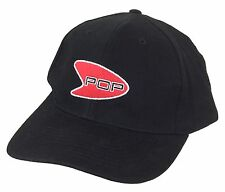 U2 RED EMBROIDERED POP LOGO BLACK BASEBALL HAT CAP NEW OFFICIAL POP CLOTHING NOS