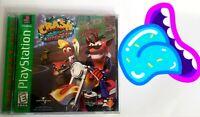 🕹️🔥 Crash Bandicoot Warped PlayStation 1 PS1 Complete FAST SHIPPING! L👀K!⬇️😀
