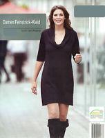 Damen Feinstrickkleid Strickkleid Kleid Schwarz Öko-Tex