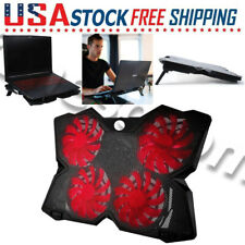 4-Fan Laptop Cooler Cooling Pad Dual USB For Gaming E-Sport LED Advanced Coolpad