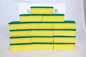 Lot of 48 pcs Sponge Scrubber Scrub Scourer Wash Clean Dish Pads Bulk KITCHEN