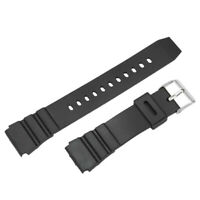 18mm Mens Military Black Silicone Rubber Waterproof Sport Wrist Watch Band ZJI